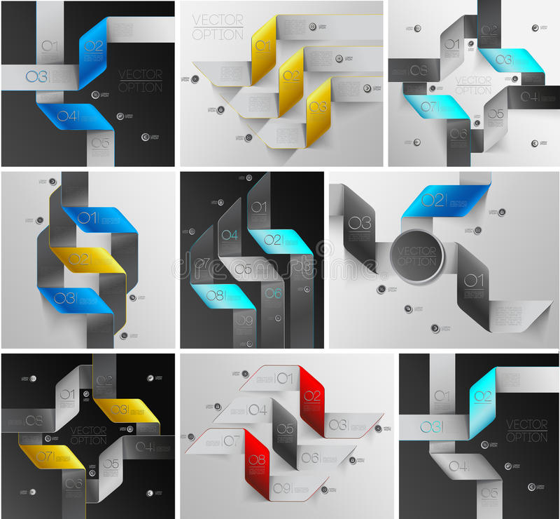 Линии комплект стрелок infographics бесплатная иллюстрация