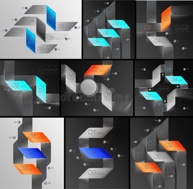 Линии комплект стрелок infographics иллюстрация вектора