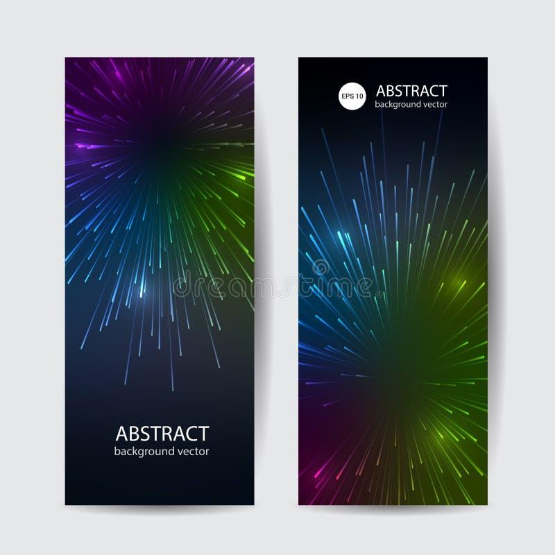 Линии конспекта вектора знамени красочные жестикулируют предпосылку светового эффекта бесплатная иллюстрация