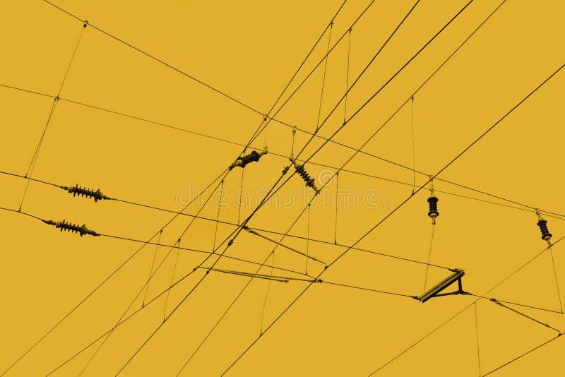 линии надземные стоковая фотография rf
