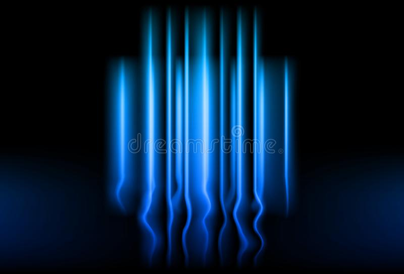 Линии накаляя конспект b концепции технологии световых лучей неоновый голубой иллюстрация вектора