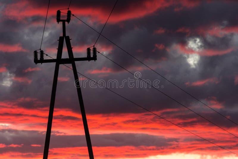 Линии напряжения тока стоковые фотографии rf