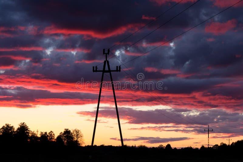 Линии напряжения тока стоковое фото rf