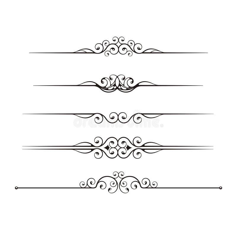 линии правило иллюстрация вектора