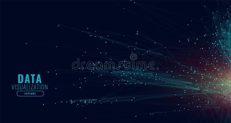 Линии предпосылка сети технологии данных иллюстрация штока
