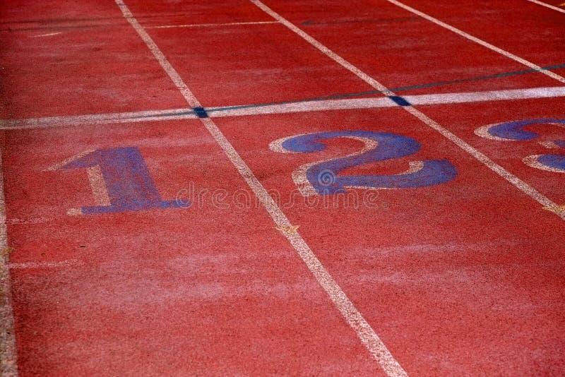 Линии следа для идущей гонки стоковое изображение rf