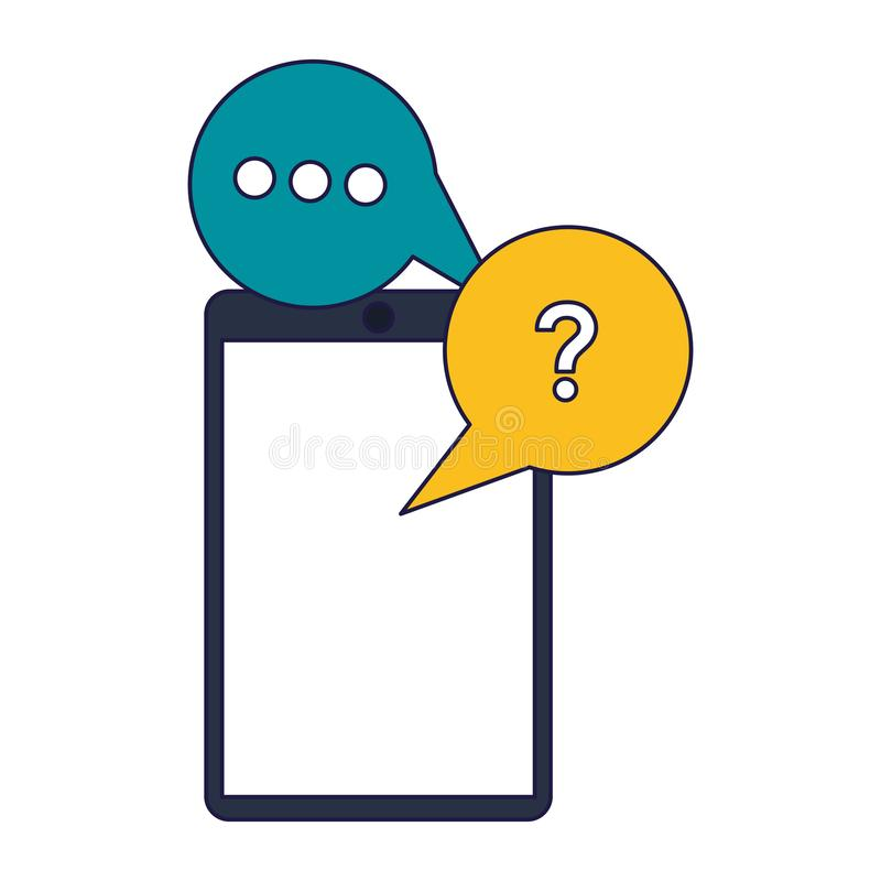Линии службы технической поддержки и обслуживания клиента голубые иллюстрация штока