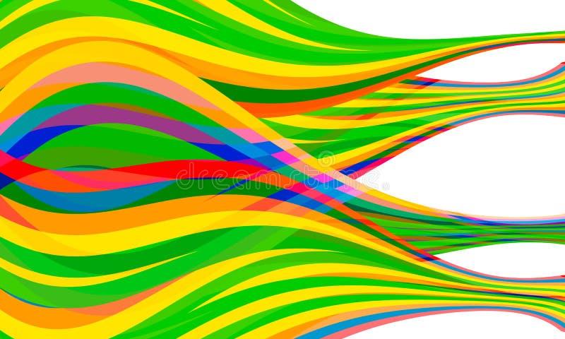 Линии совмещенные вектором абстрактные иллюстрация вектора