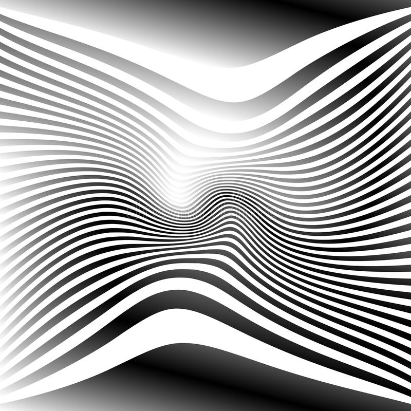 Download Линии с влиянием деформации Абстрактный Uncolored, Monochrome Il Иллюстрация вектора - иллюстрации насчитывающей benji, график: 81800055