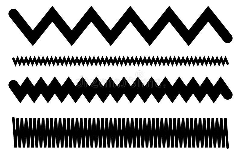 Линии с развевать, billowy влияние Волнистый, линии зигзага бесплатная иллюстрация