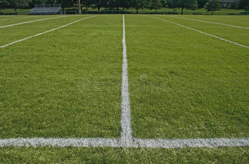 линии футбола поля границы играя белизну стоковое изображение