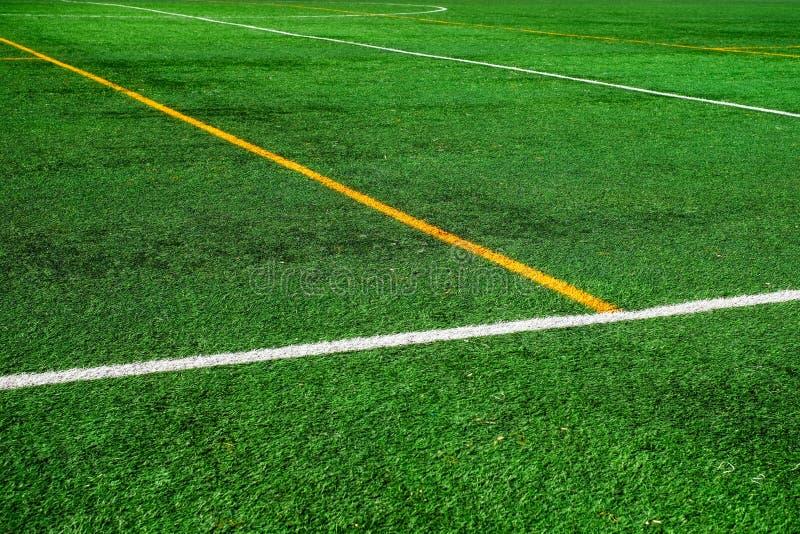 Линии футбольного поля стоковая фотография