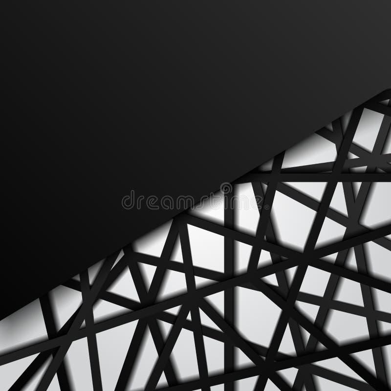 Линии футуристическая перекрывая белая предпосылка черноты шаблона конспекта Соединение цифров бесплатная иллюстрация