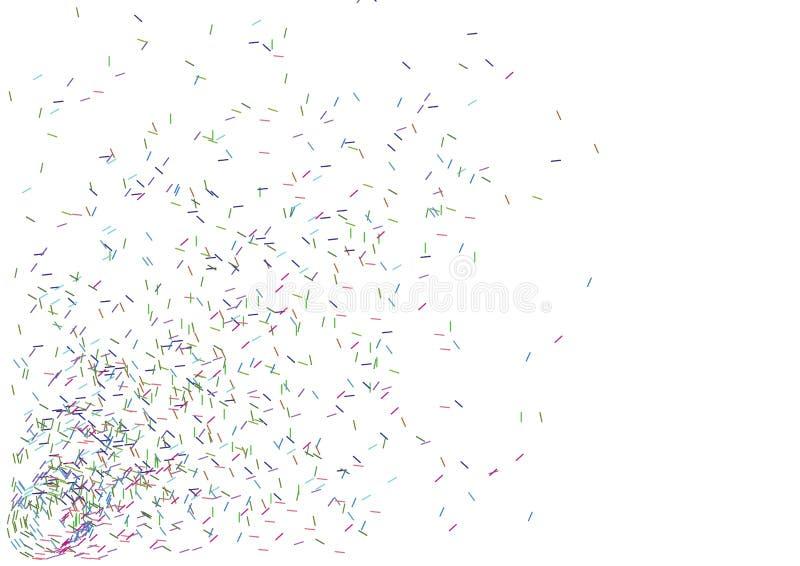 линии цвета вектор иллюстрация штока