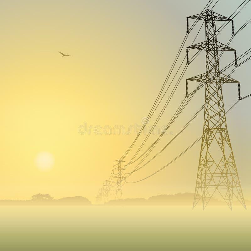 Линии электропередач бесплатная иллюстрация