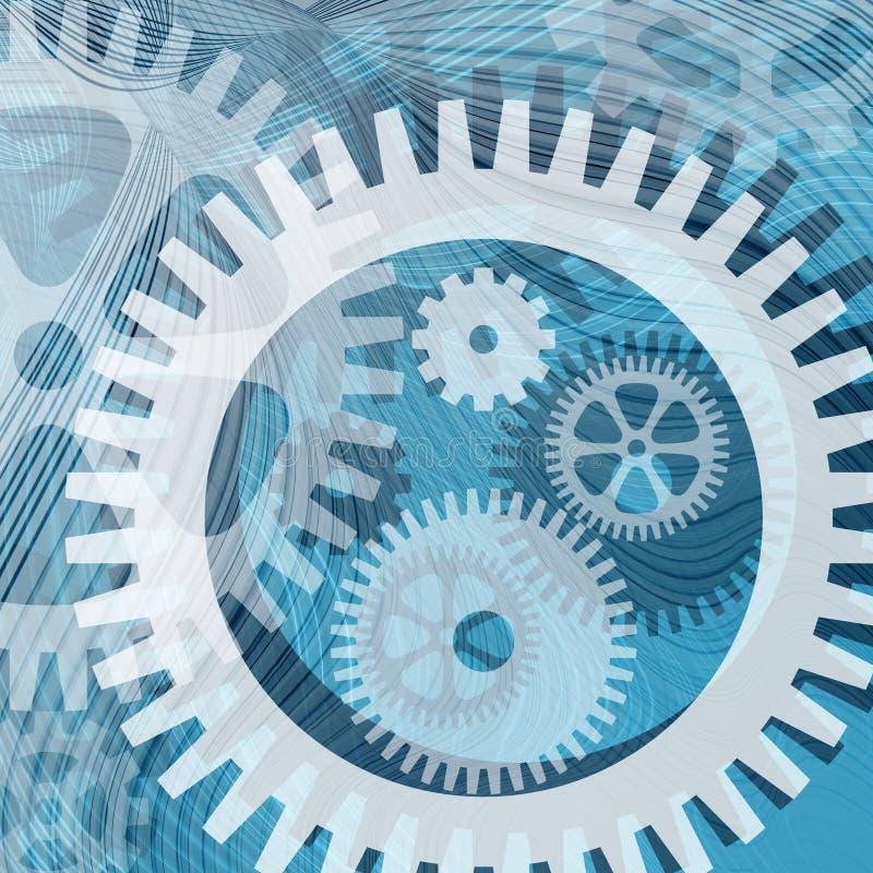 линии cogwheels иллюстрация вектора