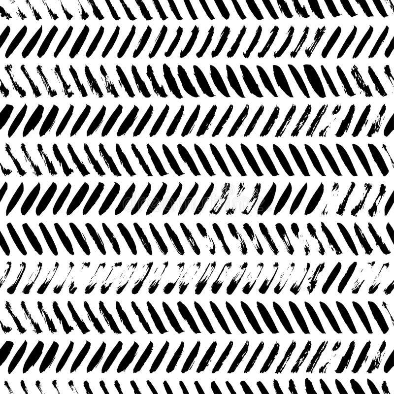 Линии Grunge раскосные покрывают краской безшовную картину иллюстрация штока