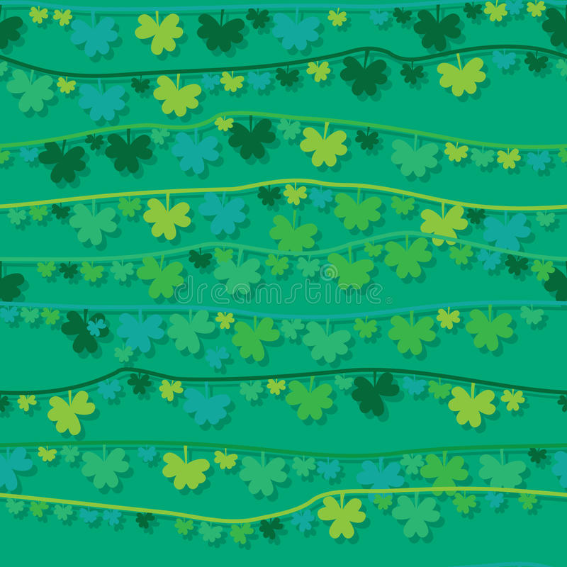 Линия безшовная картина вида лист ` s St. Patrick иллюстрация вектора
