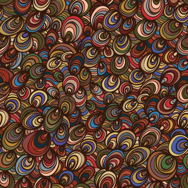 Линия безшовная картина круга раковины милая иллюстрация вектора