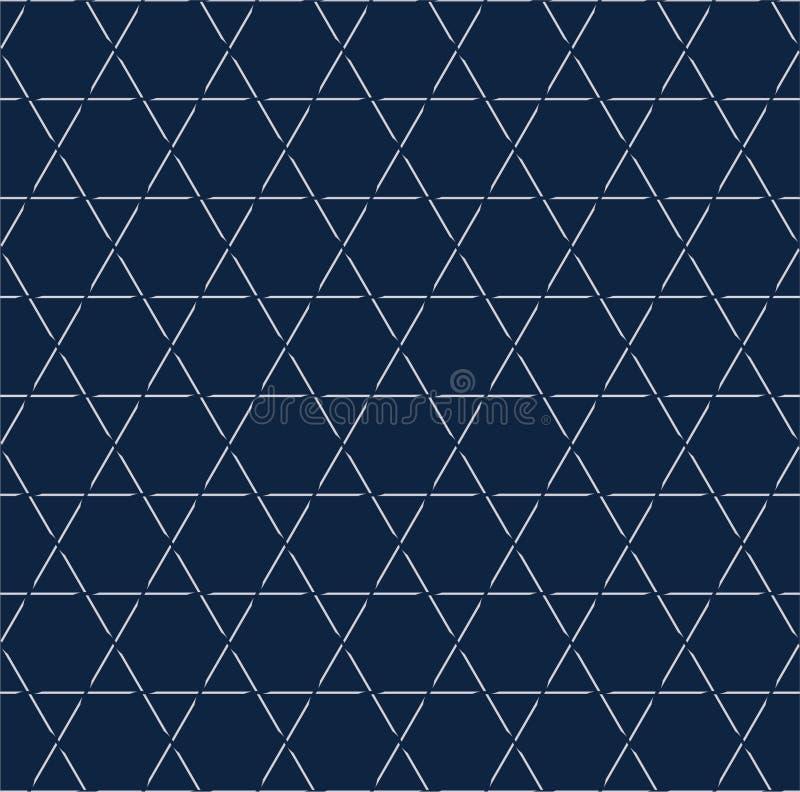 Линия безшовная картина шестиугольника, предпосылка картины звезды, белая предпосылка картины, вектор стоковая фотография