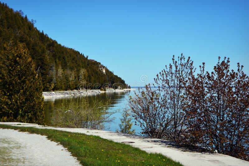 Линия берега острова Mackinac стоковое изображение rf