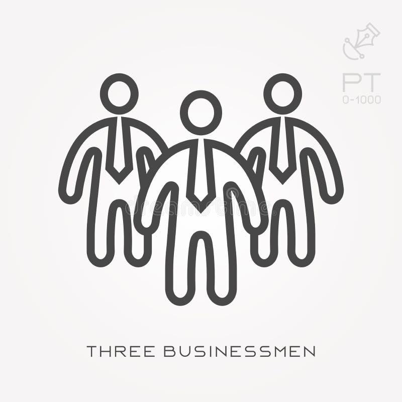 Простая иллюстрация вектора со способностью изменить Линия бизнесмены значка 3 бесплатная иллюстрация