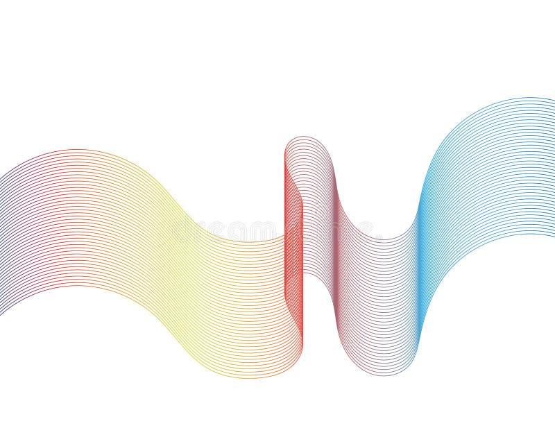 Линия векторы волны иллюстрации бесплатная иллюстрация