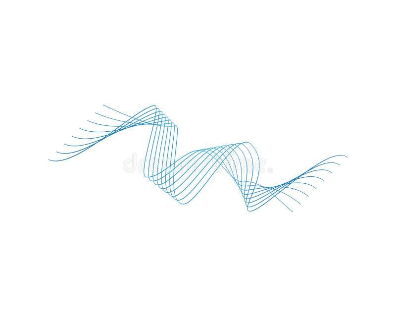 Линия вектор волны логотипа цвета иллюстрация вектора
