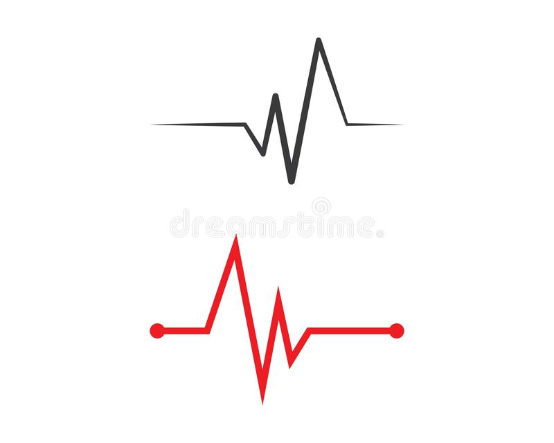 линия вектор сердцебиения иллюстрация вектора