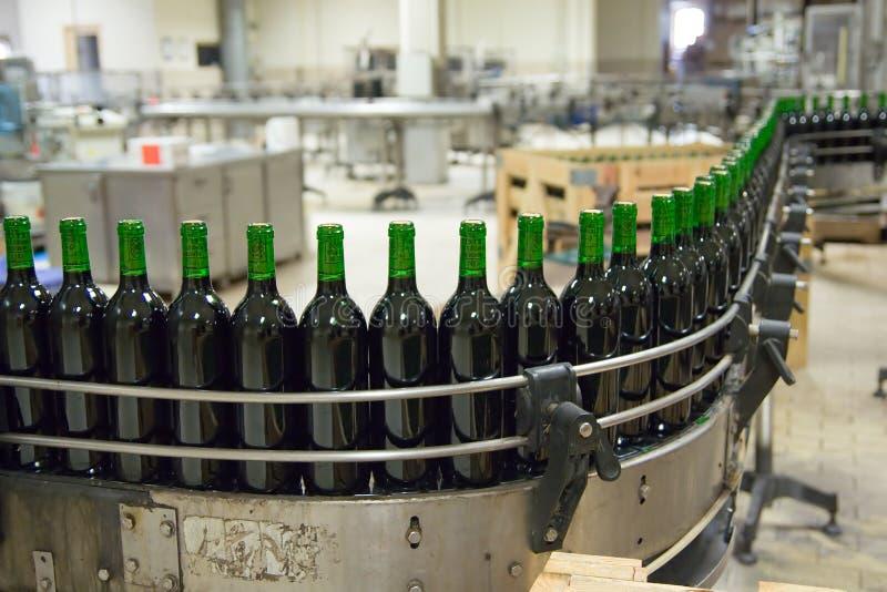 линия вино продукции стоковые изображения rf