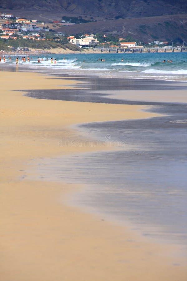 линия вода пляжа santo porto стоковое фото