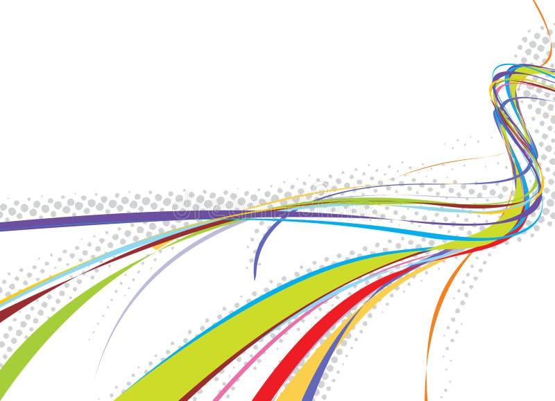линия волна предпосылки радуги иллюстрация вектора