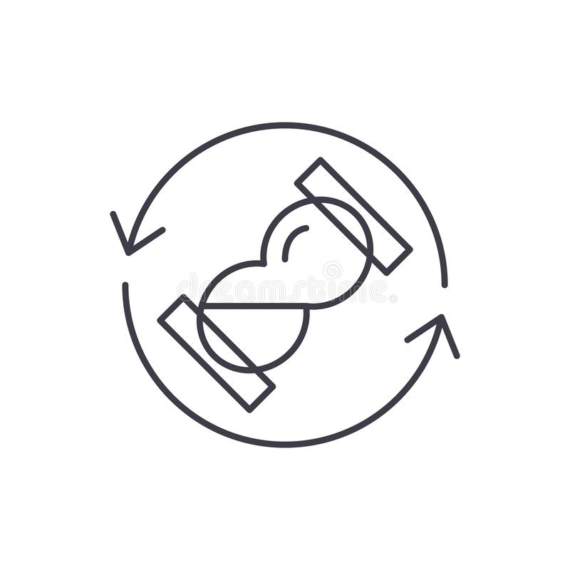 Линия времени ожидания концепция значка Иллюстрация вектора времени ожидания линейная, символ, знак бесплатная иллюстрация
