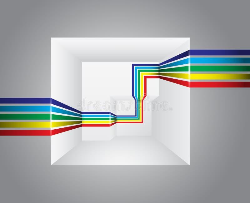 Линия в перспективе иллюстрация вектора