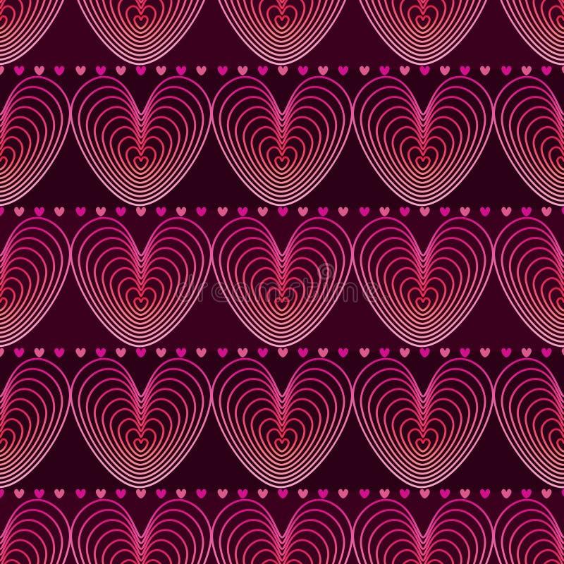 Линия влюбленности картина пинка горизонтальная безшовная иллюстрация штока