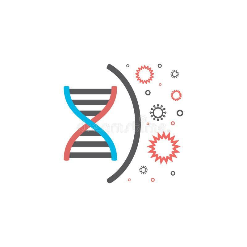 Линия ген ДНК вируса значка Знак вектора для графика сети бесплатная иллюстрация