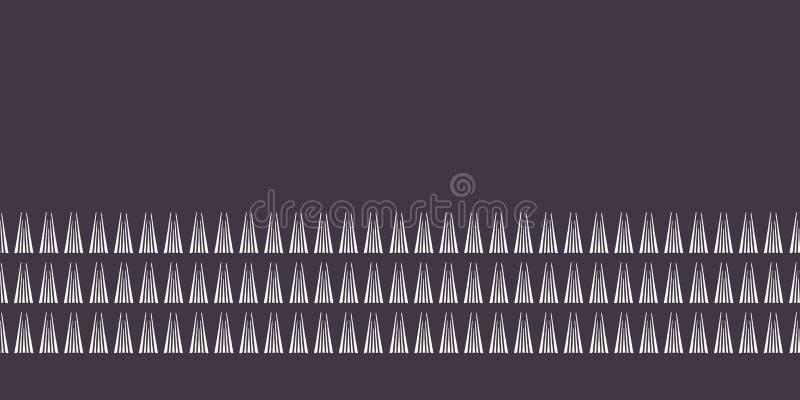 Линия граница современной геометрической руки вычерченная треугольников Повторение простой линейной отделки ленты Абстрактный орн иллюстрация вектора