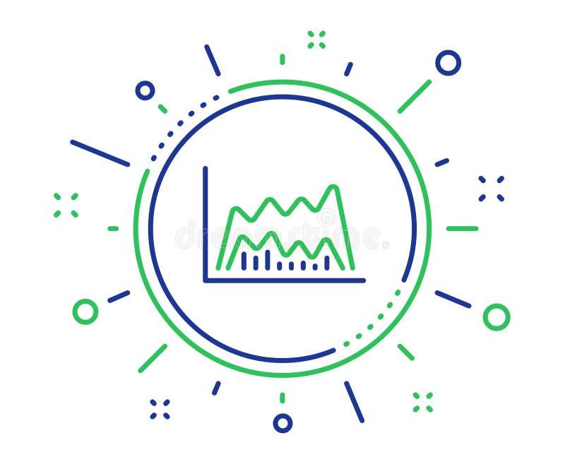 Линия диаграммы значок вклада Диаграмма финансов r иллюстрация штока