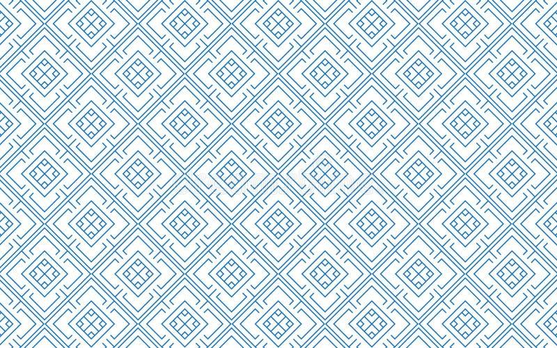 Линия дизайн предпосылки вектора картины конспекта стиля квадратных геометрических форм тайский бесплатная иллюстрация