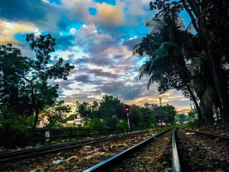 Линия железных дорог стоковая фотография