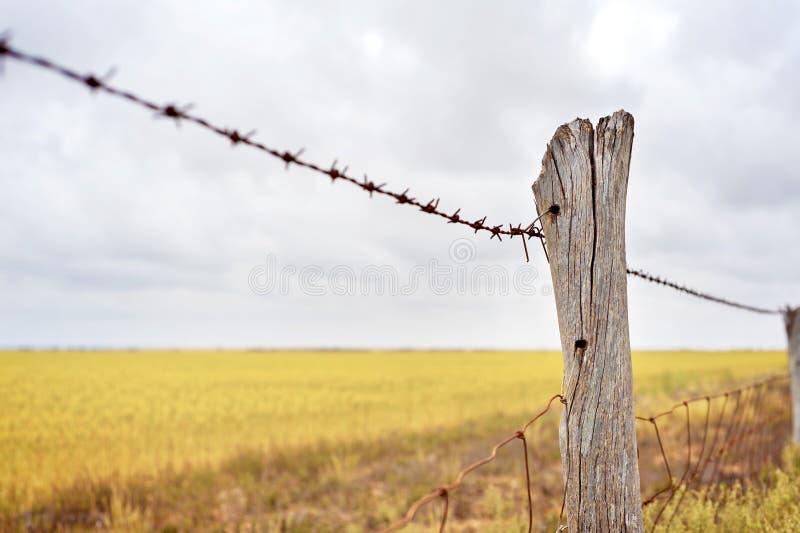 Линия загородки фермы стоковое фото