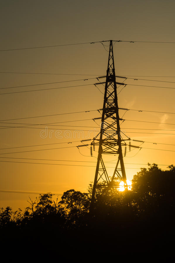линия заход солнца силы стоковые изображения rf