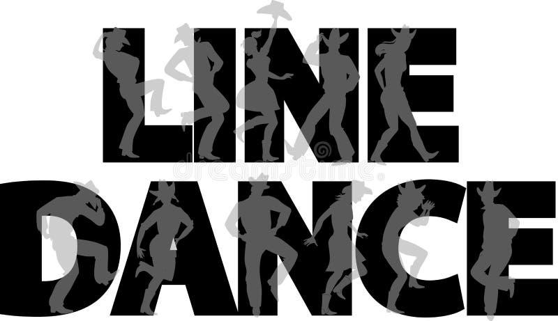 Линия знамя танца иллюстрация штока