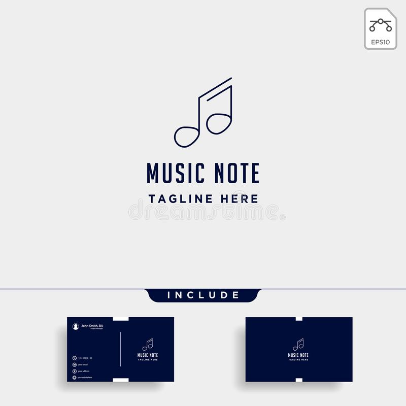 линия значка элемента вектора логотипа символа музыки простая изолировала бесплатная иллюстрация