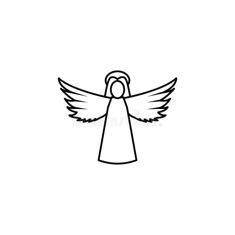 Линия значок Анджела женщины иллюстрация вектора