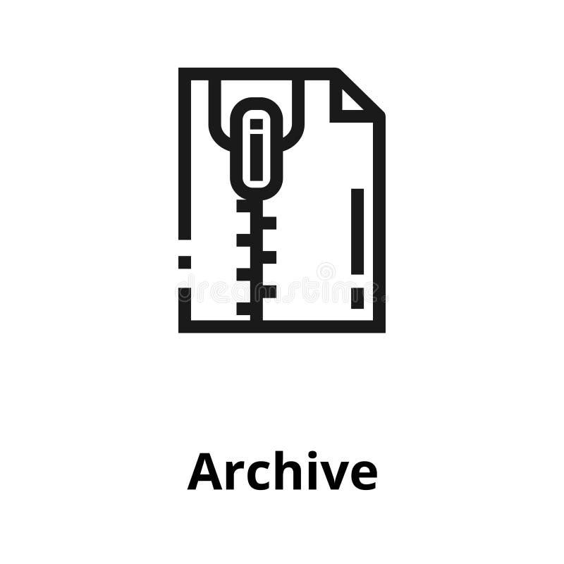 Линия значок архива иллюстрация вектора