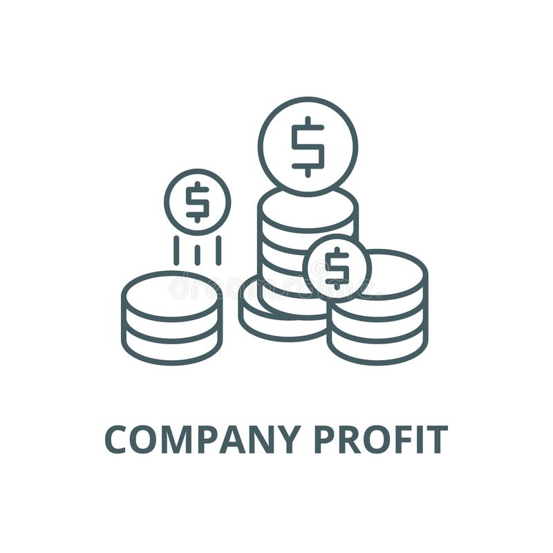 Линия значок вектора выгоды компании, линейная концепция, знак плана, символ иллюстрация штока