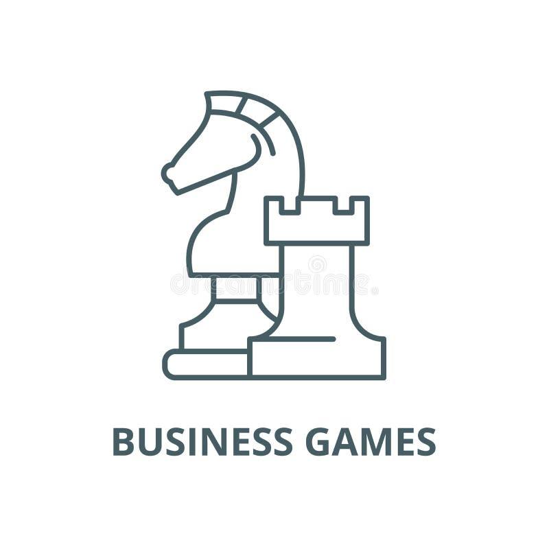 Линия значок вектора деловых игр, линейная концепция, знак плана, символ иллюстрация вектора