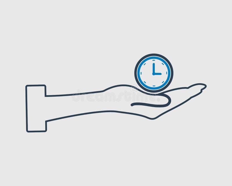Линия значок вектора контроля времени бесплатная иллюстрация