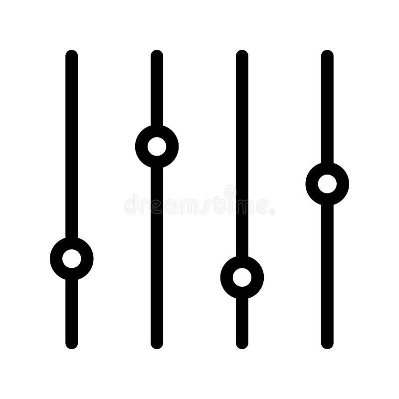 Линия значок вектора контроля бесплатная иллюстрация